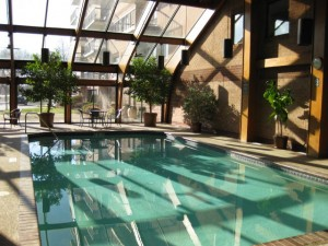 Beautiful indoor pool and gym