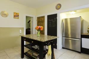 31 Adams Street's kitchen is a favorite gathering spot