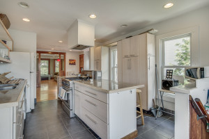 Large, bright renovated kitchen