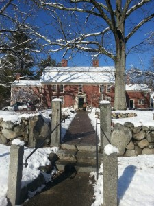 Our snowy day trip destination - the Wayside Inn in Sudbury